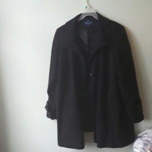 Black women dress coat